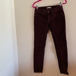 Free People Maroon Cords